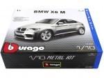 "2010 BMW X6 M Gris Metalizado ""Metal Kit"" 1:18 Bburago 15054"