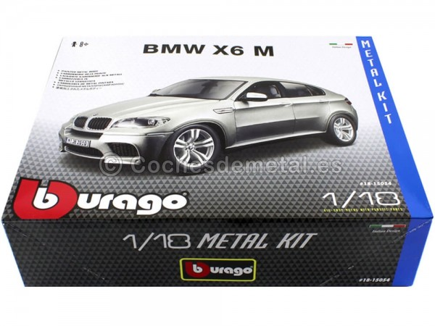 "2010 BMW X6 M Gris Metalizado ""Metal Kit"" 1:18 Bburago 15054 Cochesdemetal.es"