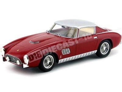1957 Ferrari 410 Superamerica Coupe Scaglietti Rojo 1:18 CMF Models 214507 Cochesdemetal.es