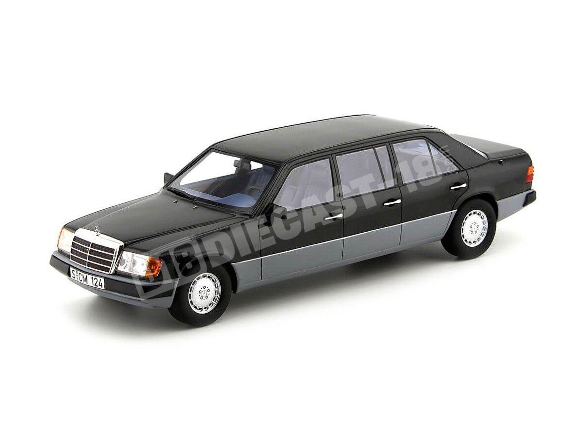 1990 Mercedes-Benz Case-E W124 largo Negro 1:18 Cult Scale Models CML012 Cochesdemetal.es