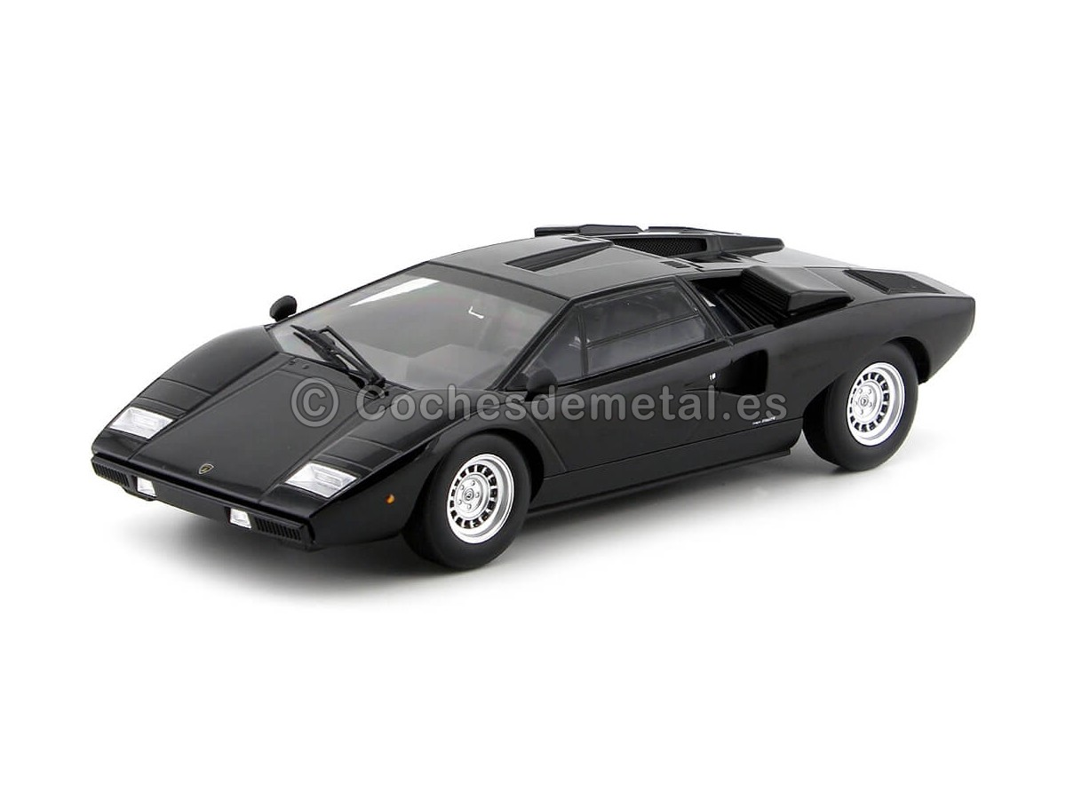 1974 Lamborghini Countach LP400 Negro 1:18 Kyosho C09531BK Cochesdemetal.es