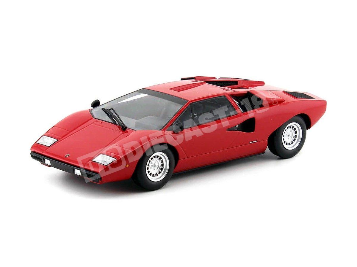 1974 Lamborghini Countach LP400 Rojo 1:18 Kyosho C09531R Cochesdemetal.es