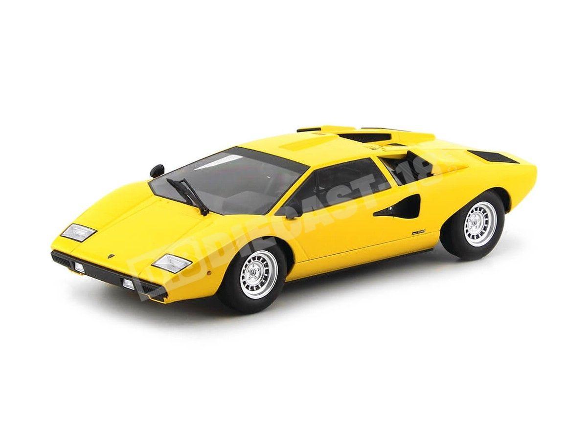 1974 Lamborghini Countach LP400 Amarillo 1:18 Kyosho C09531Y Cochesdemetal.es