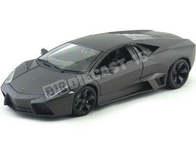 2008 Lamborghini Reventon Gris 1:18 Bburago 11029 Cochesdemetal.es