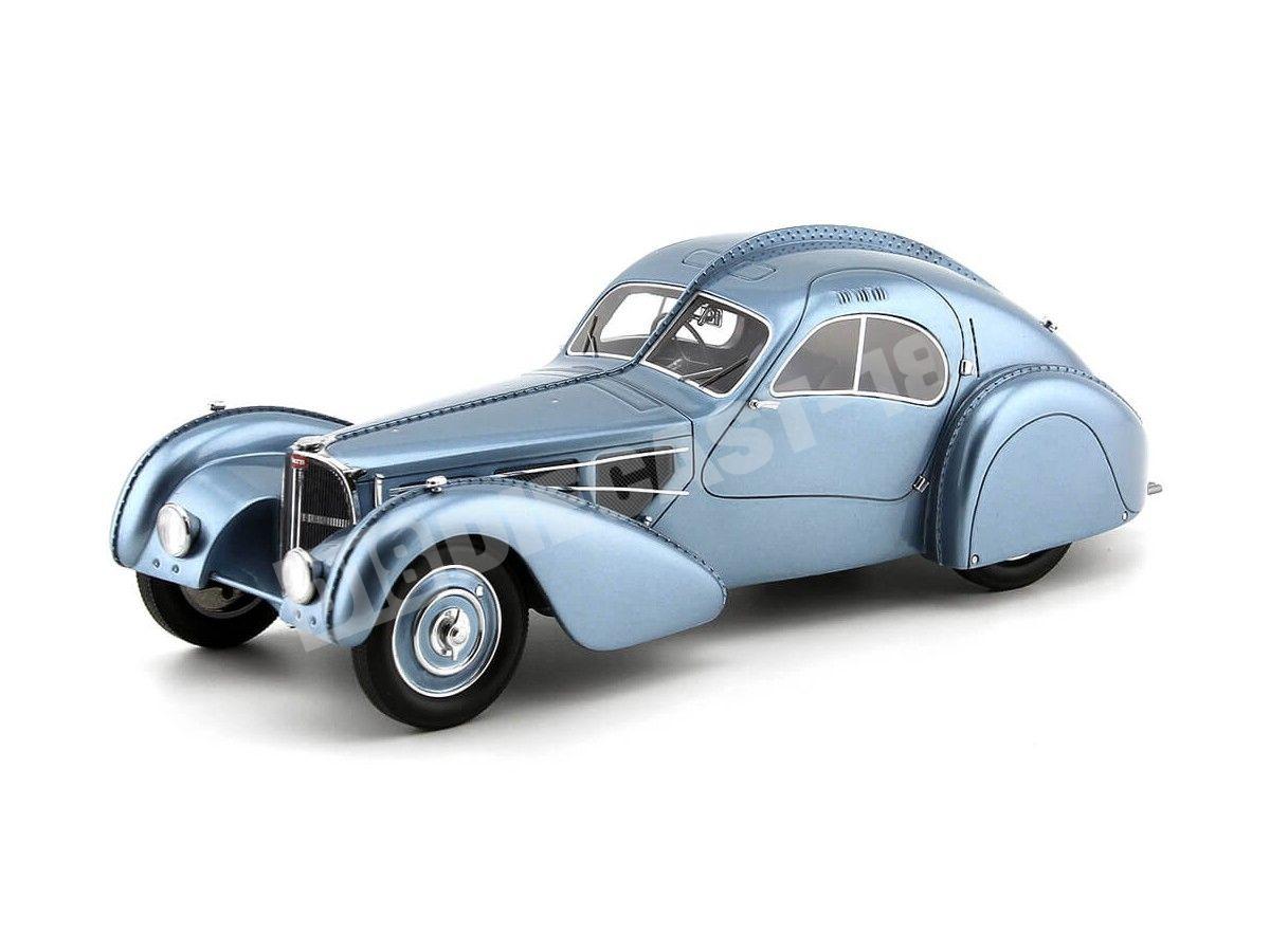 1938 Bugatti T57 SC Atlantic Azul Claro 1:18 BoS-Models 297 Cochesdemetal.es