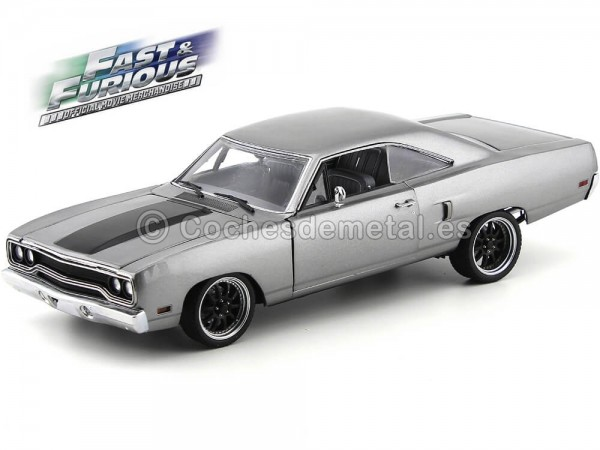 "1970 Plymouth Road Runner The Hammer ""Fast and Furious III"" Gris 1:18 Acme GMP 18857 Cochesdemetal.es"
