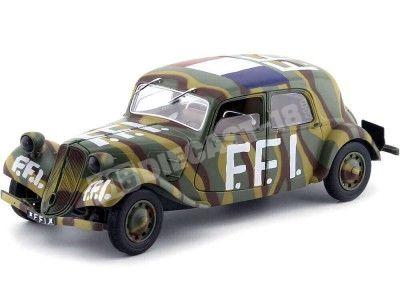"""1944 Citroen Traction """"Fuerzas Francesas del Interior"""" 1:18 Solido S1800902 Cochesdemetal.es"""