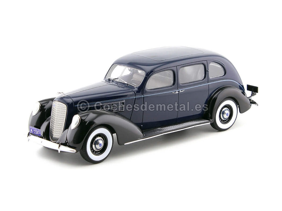 1937 Lincoln V-12 Model K Sedan Azul-Negro 1:18 BoS-Models 317 Cochesdemetal.es
