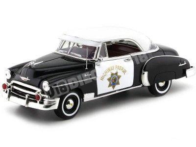 1950 Chevrolet Bel Air CA Highway Patrol Police 1:18 Motor Max 79007 Cochesdemetal.es