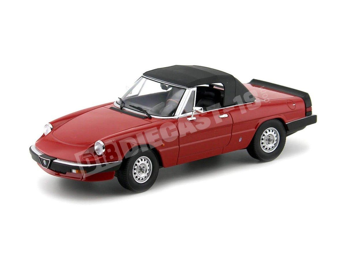 1983 Alfa Romeo Spider 3 Serie 1 Rojo 1:18 KK-Scale 180171