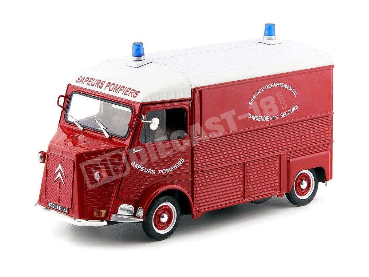 "1969 Citroen Type HY ""Pompier France"" Rojo 1:18 Solido S1850013 Cochesdemetal.es"