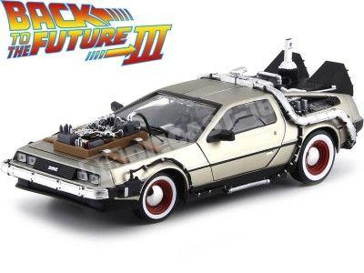 """1990 DeLorean DMC 12 """"Regreso al Futuro III"""" 1:18 Sun Star 2712 Cochesdemetal.es"""