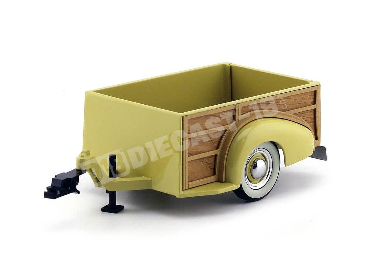 1939 Chevrolet Master Woody Wagon Trailer 1:18 Motor City Classics 71001 Cochesdemetal.es
