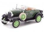 1931 Ford Model A Roadster Brewster Green 1:18 Sun Star 6123