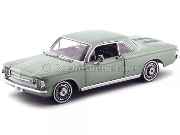 1963 Chevrolet Corvair Coupe Laurel Green 1:18 Sun Star 1483 Cochesdemetal.es