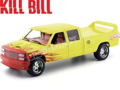 """1997 Chevrolet C-2500 Crew Cab Silverado """"Kill Bill Pussy Wagon"""" 1:18 Greenlight 19015 Cochesdemetal.es"""