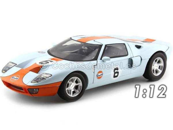 2004 Ford GT Concept With Gulf Livery 1:12 Motor Max 79639 Cochesdemetal.es