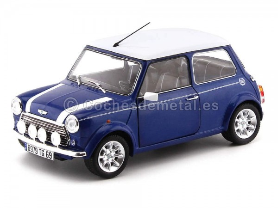 1997 Mini Cooper Sport Pack 1.3i Tahiti Blue 1:18 Solido S1800601 Cochesdemetal.es