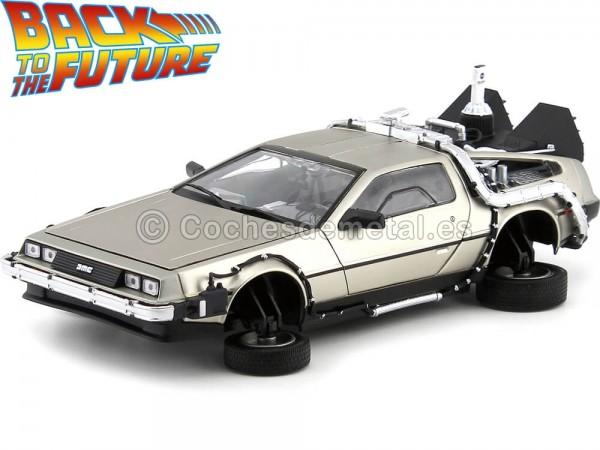 "1989 DeLorean DMC 12 ""Regreso al Futuro II"" 1:18 Sun Star 2710 Cochesdemetal.es"