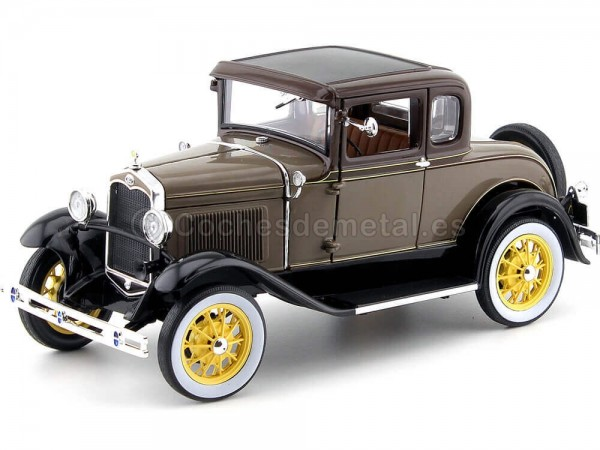 1931 Ford Model A Coupe Stone Brown 1:18 Sun Star 6134 Cochesdemetal.es