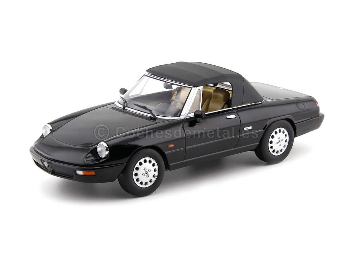 1990 Alfa Romeo Spider 4 Convertible Black 1:18 KK-Scale 180182 Cochesdemetal.es