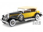 1932 Duesenberg Model SJ Tourster Derham Yellow-Black 1:12 Premium ClassiXXs PCL40065