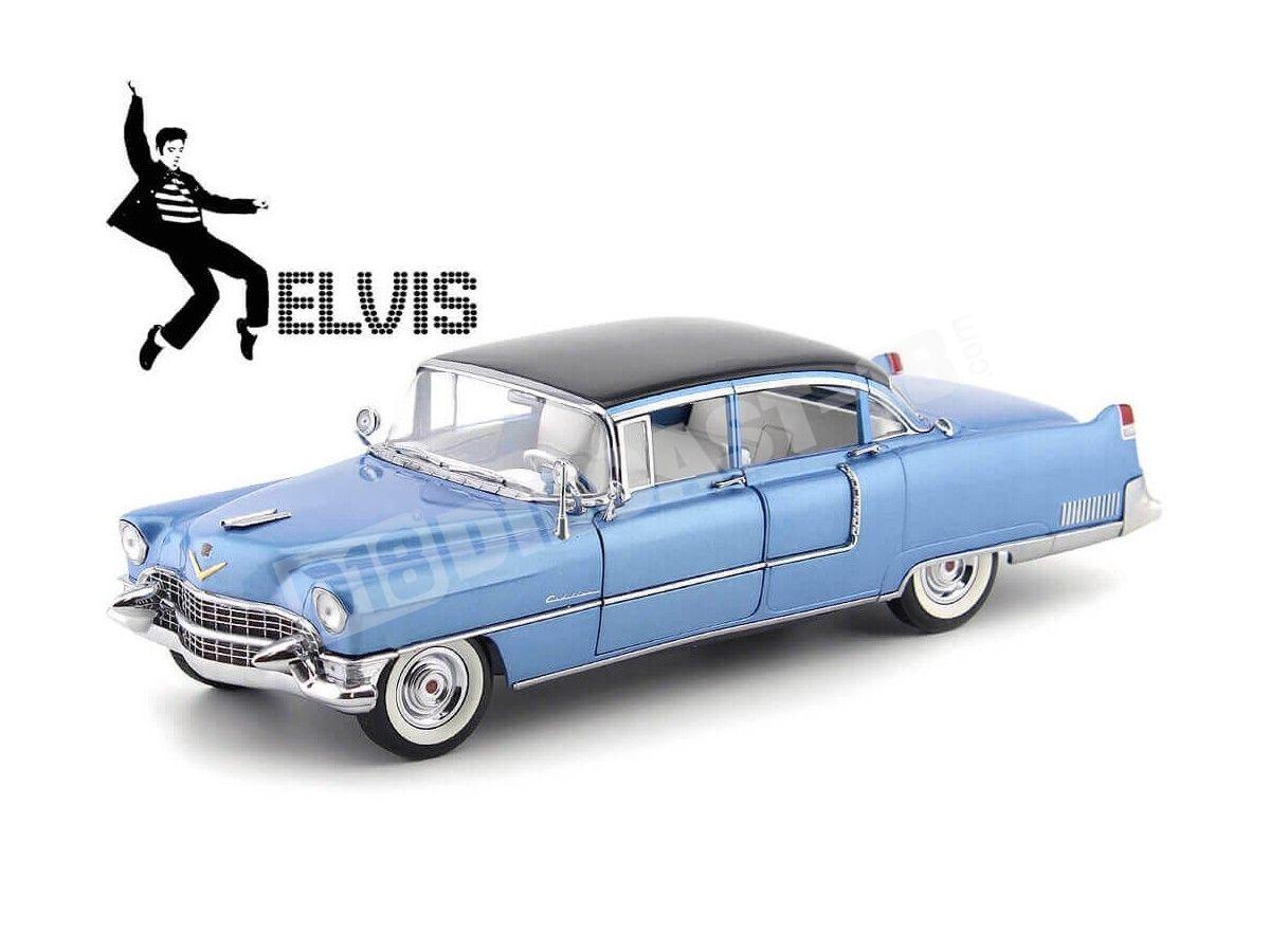 "1955 Cadillac Fleetwood Series 60 ""Elvis Presley"" Azul 1:18 Greenlight 13502 Cochesdemetal.es"