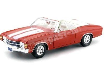 1971 Chevrolet Chevelle Convertible SS454 Naranja 1:18 Maisto 31883 Cochesdemetal.es