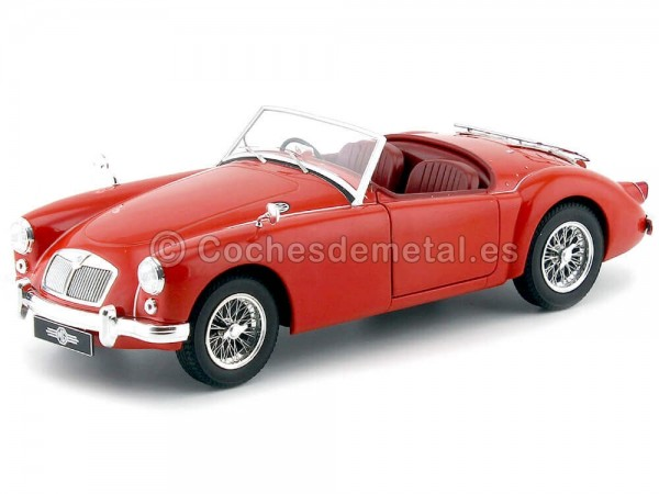 1957 MGA MKI A1500 Open Convertible 1:18 Red Triple-9 1800160 Cochesdemetal.es