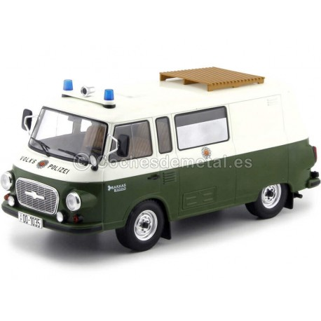 1965 Barkas B 1000 Mini Bus Policía Alemania 1:18 MC Group 18097 Cochesdemetal.es