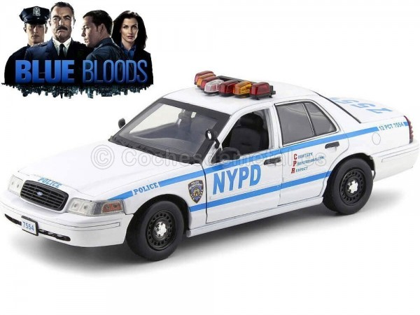 """2001 Ford Crown Victoria Police Interceptor NYPD """"Blue Bloods"""" 1:18 Greenlight 13513 Cochesdemetal.es"""