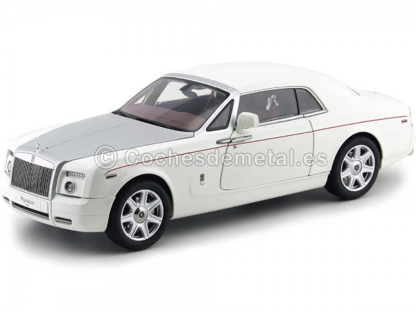2012 Rolls-Royce Phantom Coupe English White 1:18 Kyosho 08861EW Cochesdemetal.es