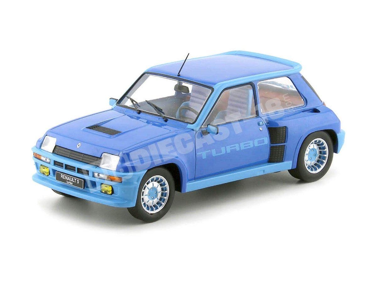 1981 Renault R5 Turbo 1 Metallic Blue 1:18 IXO Models 18CMC005 Cochesdemetal.es