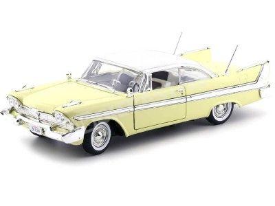 1958 Plymouth Fury Amarillo 1:18 Motor Max 73115 Cochesdemetal.es