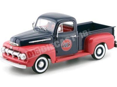 "1951 Ford F1 Pick-Up ""GULF"" Azul-Rojo 1:18 Greenlight 12978 Cochesdemetal.es"