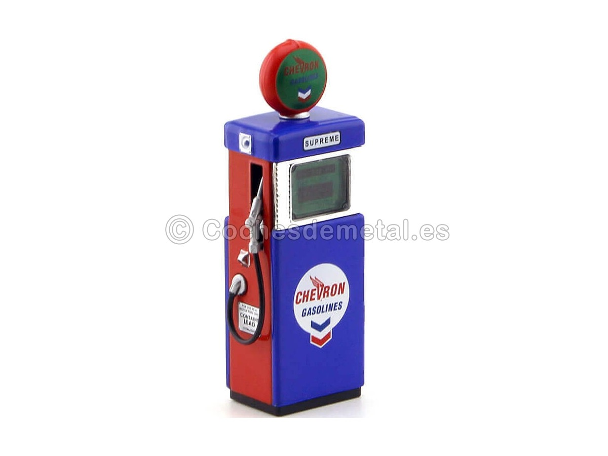 1951 Wayne 505 Gas Pump Chevron Supreme 1:18 Greenlight 14020A Cochesdemetal.es