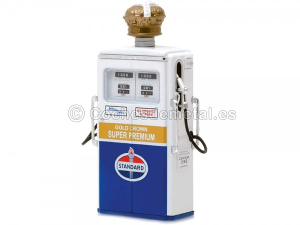 1954 Tokheim 350 Twin Gas Pump Standard Oil 1:18 Greenlight 14040C Cochesdemetal.es