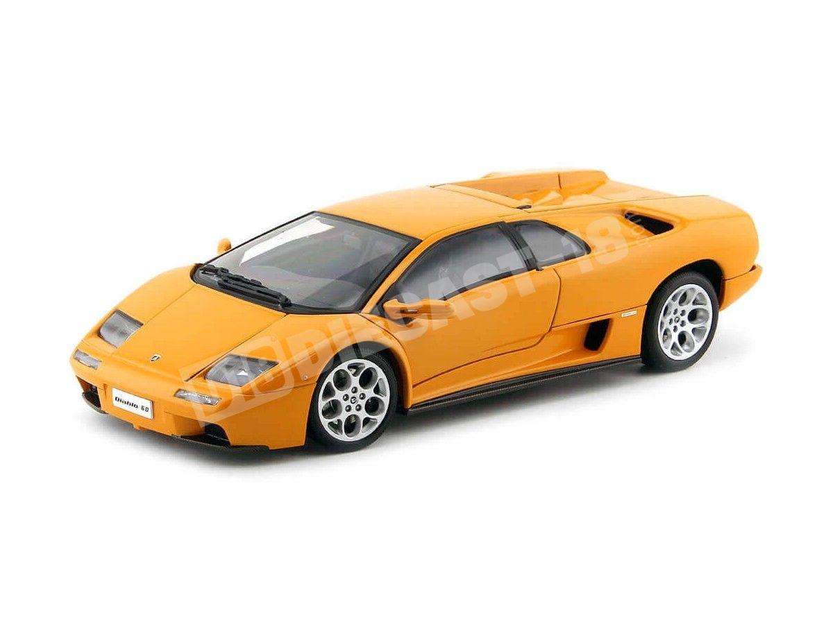 1:43 scale model. Lamborghini Diablo orange Motor Max