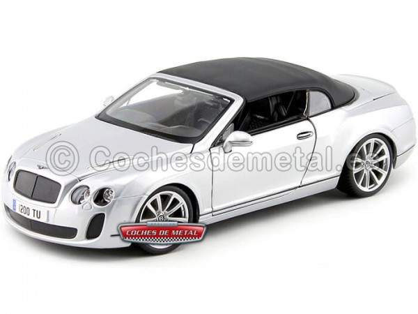 2012 Bentley Continental Supersports Convertible Gris 1:18 Maisto 11037 Cochesdemetal.es