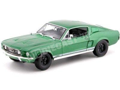 1967 Ford Mustang GTA Fastback Verde Oliva 1:18 Maisto 31166 Cochesdemetal.es