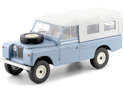 1959 Land Rover 109 Series II Cerrado Pick-Up Azul 1:18 MC Group 18094 Cochesdemetal.es