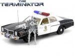 "1977 Dodge Monaco Police ""T-800 Endoskeleton Terminator"" 1:18 Greenlight 19042"