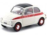 1960 Fiat 500 L Nuova Sport Beige-Rojo 1:18 Solido 1801401