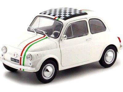 1968 Fiat 500 L Italia Blanco 1:18 Solido S1801403 Cochesdemetal.es