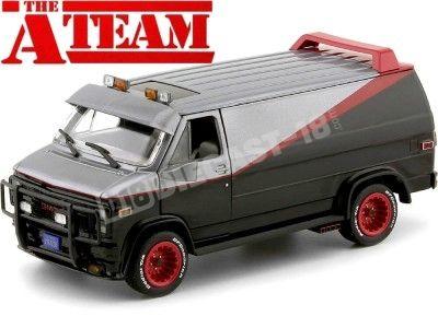 1983 GMC Vandura Cargo Van A-Team Equipo-A 1:24 Greenlight 84072 Cochesdemetal.es