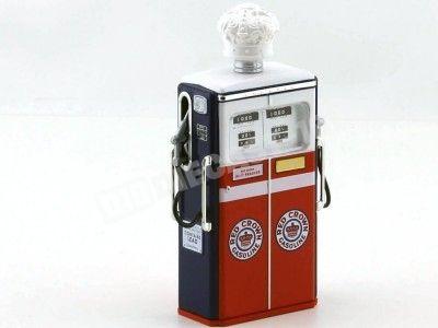 1954 Tokheim 350 Red Crown Gasoline Gas Pump Red-White 1:18 Greenlight 14030C Cochesdemetal.es