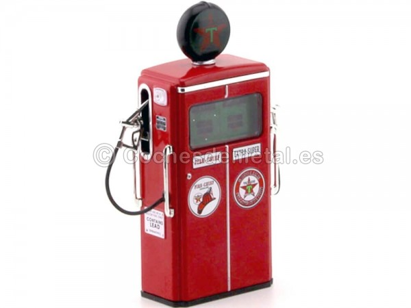 1954 Tokheim 350 Twin Gas Pump Texaco Red 1:18 Greenlight 14050C Cochesdemetal.es