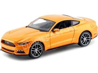 2015 Ford Mustang GT 5.0 Orange Fury 1:18 Maisto 31197 Cochesdemetal.es