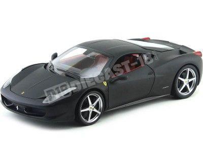2010 Ferrari 458 Italia Negro Mate 1:18 Hot Wheels T6921 Cochesdemetal.es
