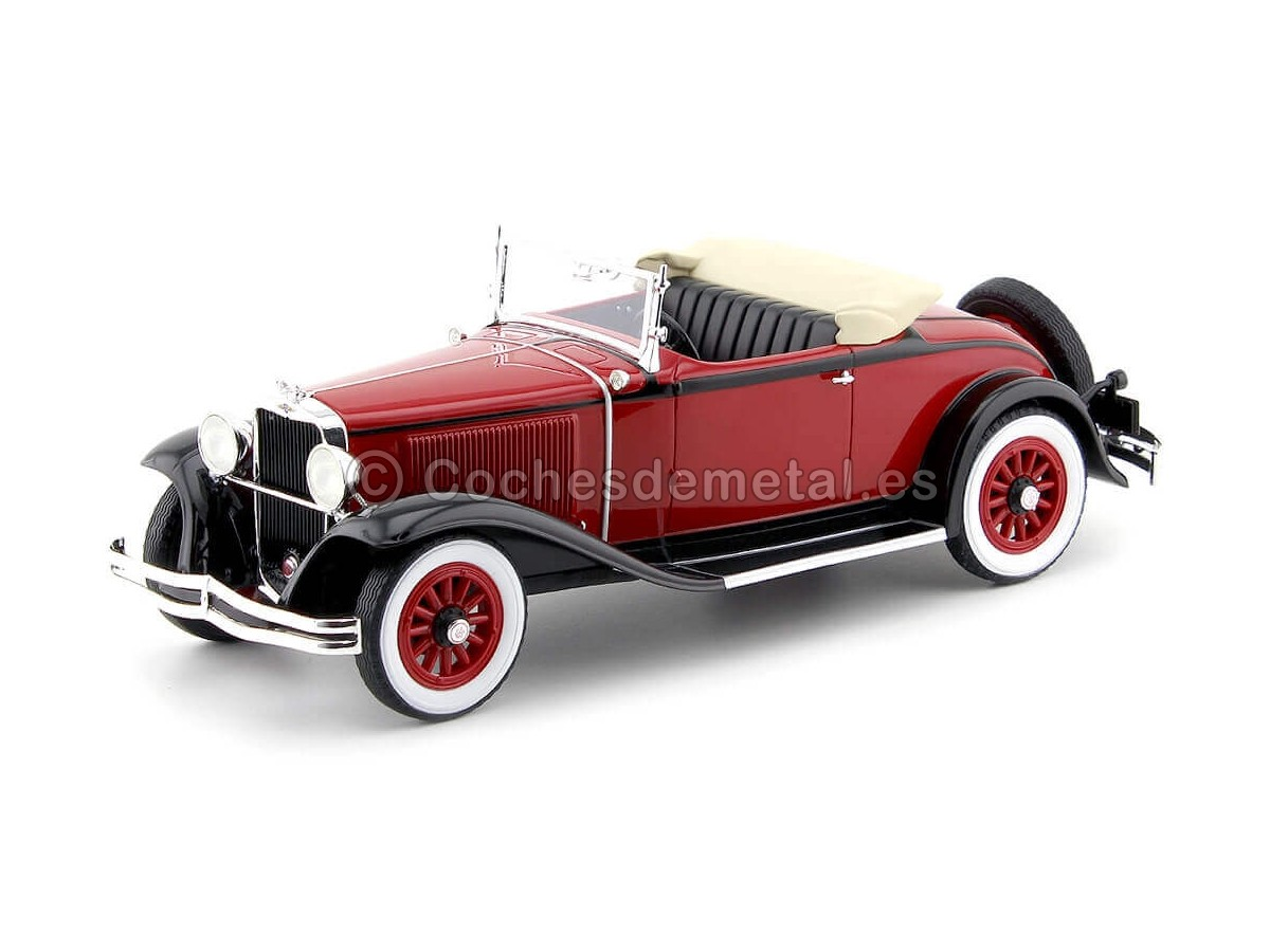 1931 Dodge Height DG Convertible Rojo-Negro 1:18 BoS-Models 293 Cochesdemetal.es